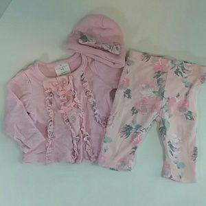 Jacket and Pants Set Laura Ashley Size 3-6m Floral